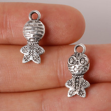 11pcs Frog Prince Charms Pendant 8x17mm Plated Silver Antique Zinc Alloy Jewelry Findings Fit Making Necklaces XL-61609