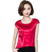 12 Color Summer Women Blouses 2017 Plus Size Casual Chiffon Silk Blouse Slim Sleeveless O-Neck Blusa Feminina Tops Shirts Solid