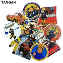TANGAN 11 pcs Fireman Sam Stickers on Motorcycle Suitcase Home Decor Laptop Covers DIY Decal In the Car Sticker Styling Bicycle(China)