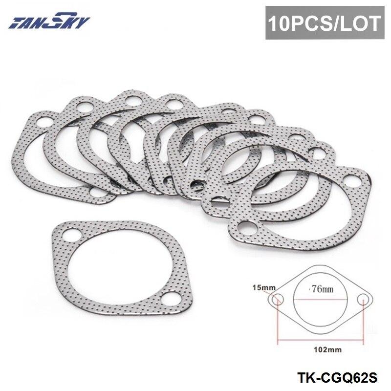 "10PCS/LOT 3"" Exhaust Decat Pipe Flange Gasket For Subaru Impreza WRX STI Legacy Outback TK-CGQ62S"