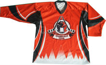 Sublimation printing quick dry fabric V-neck ice hockey uniforms