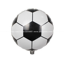 30pcs/lot 45*45cm Football Balloon Children's Toys Wholesale Wedding Party Decoration Foil Air Balloons For Baby Gift