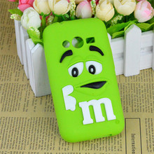 Cute Cartoon Chocolate Bean Silicone Case Cover For Samsung Galaxy Ace 4 G313F Neo G318H G318ML Phone Skin Back Cover