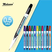 12 Colors/Lot Marker Pen 0.5 mm Simbalion 800 Extra Fine Colored Hook Line PenAlcohol Base Ink Permanent Mark On Film/Wood/Cloth(China)