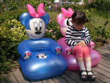Free Shipping lovely Cartoon PVC inflatable sofa seat children toys for children best Birthday Gift