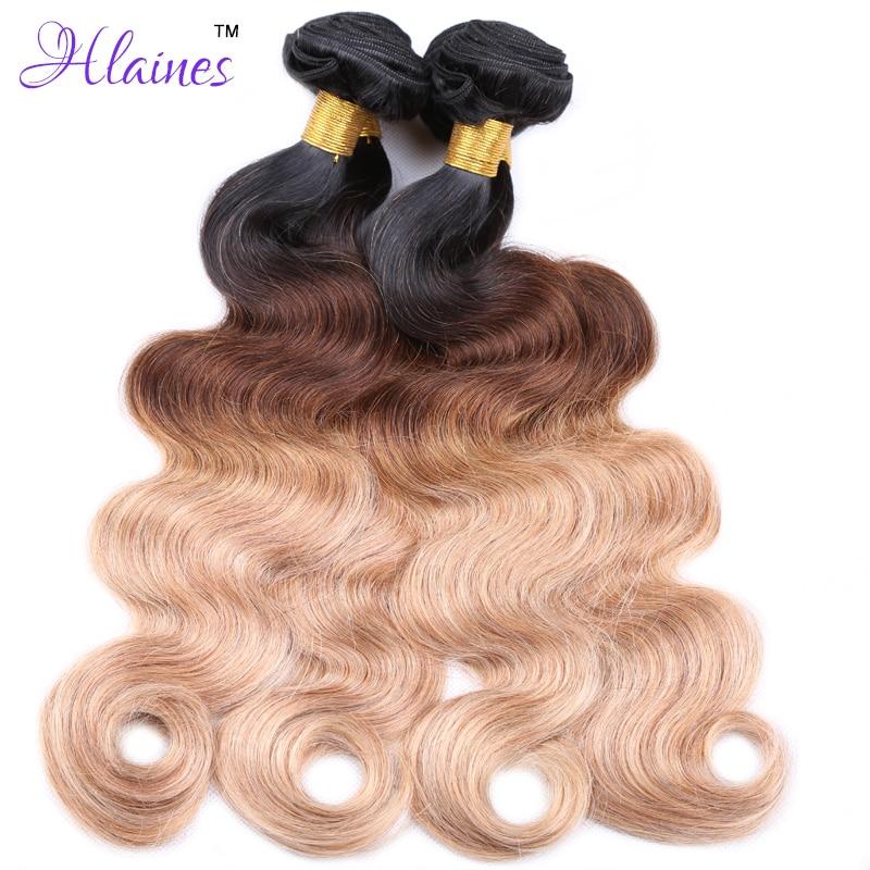 Blonde Weave Bundles Brazilian Ombre Human Hair 1B 4 27 Body Wave , Cheap Three Tone Ombre Brazilian Hair Body Wave 3 Pcs Lot<br><br>Aliexpress