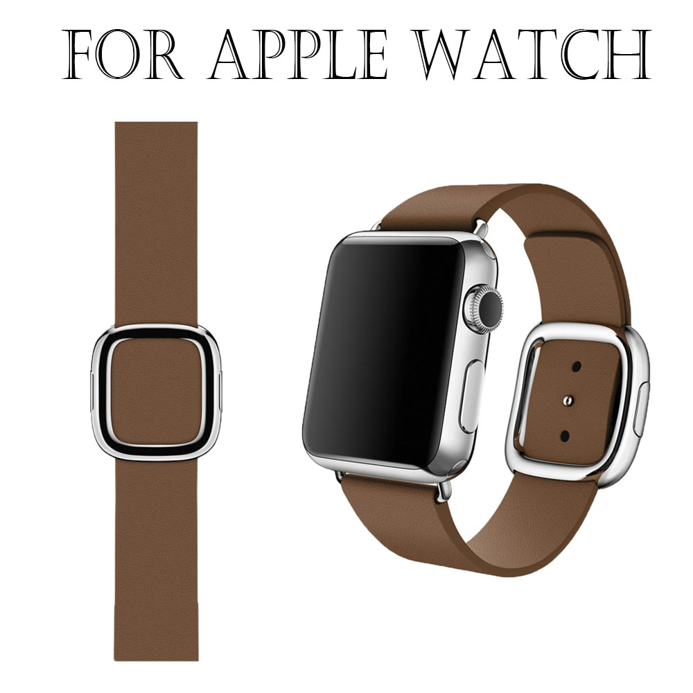 Hot Series 2/1 100%  modern Genuine Leather Watch Band Strap For Apple Watch Band 42MM/38MM for iWatch Sports Buckle wholesale<br><br>Aliexpress
