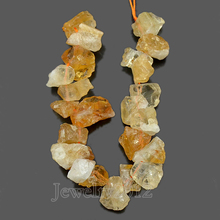 "5 Strands/Lot Wholesale Natural Raw Rough Nugget Citrin e Gem stone Baroque Freeform Beads14-16mm 7.5"" Side Drilled"