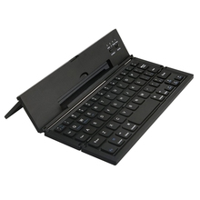 Universal Portable Foldable Wireless Bluetooth Keyboard with Kickstand for IOS Andriod Windows Smartphone Tablet Black(China)