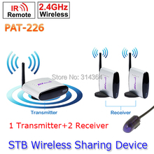 1 Transmitter to 2 Receiver PAT-226 EU/US/AU/UK Adapter Smart 2.4GHz Wireless 150m AV Sender TV Audio Video Transmitter Receiver(China)