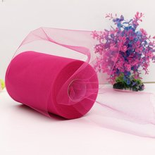 "Boutique  Soft 6""x100yd Tulle Roll Spool Wedding Craft Bridal   Party Decor 6""x300' New deep rose red"
