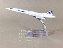 Free Shipping The Air France F-BVFB Concorde 16cm Metal Airplane Models Baby Birthday Gift Christmas Gift Plane Models Kids Toy