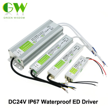 LED Driver DC24V IP67Waterproof Power Supply Lighting Transformers For Outdoor Lighs 15W 24W 36W 45W 60W 100W 150W