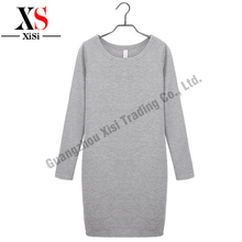 Best Selling Solid Warm Wool Dress Winter Autumn Beautiful Sweater Dress Lovely Vestidos Wrap Full Sleeve Natural Waist