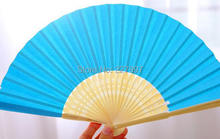 100pcs/lot Free Shipping Fashion Wedding Paper Fan Bride Hand Fan with bamboo ribs Craft Fan wedding Favor party gift