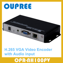 H.265 VGA Video Encoder with audio input works with wowza xtream codes  IPTV Media Server, Online Live Stream Broadcast, etc.