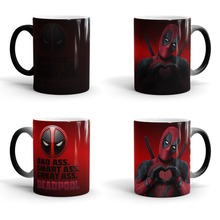 Deadpool mugs dead pool morphing coffee mug disappearing magic mugs printed transforming novelty heat changing color tea cups