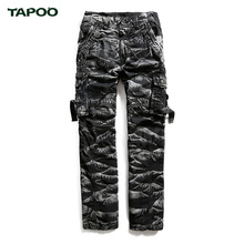TAPOO Camouflage Pants for Man Cargo Trousers Hose Cotton Top High Quality Spring New Arrival Boys Plus Size Pants TP7127023(China)