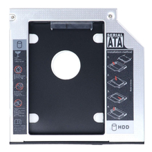 SATA 2nd HDD HD Enclosure Hard Drive Caddy Case Tray, Universal for 12.7mm Laptop CD / DVD-ROM Optical Bay Drive Slot