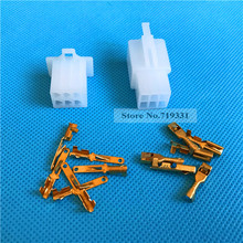 20sets 2.8mm 6 Way/pin automotive motorcycle electrical connectors Kits Male Female wire terminal socket plug for Motorbike Car