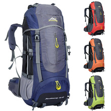 Mountaineering Backpack Outdoor Hiking Bag 65+5L Large Capacity Camping Travel Waterproof Pack