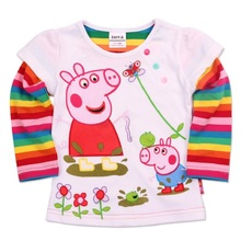 Clearance High Quality Baby Girl Tutu Dress With Cartoon Pig Nova Spring Autumn Long Sleeve Cotton Dress Kids Clothes