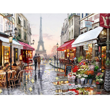 3D diy diamond painting Cross Stitch landscape sweet lover kits city street Crafts Diamond Embroidery mosaic scenry home decor