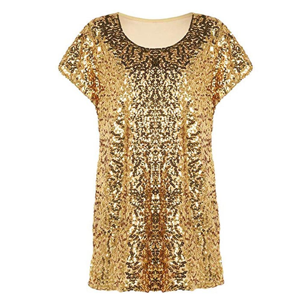 Smart New Fashion Womens Sleeveless Sparkly Slash Neck Sequin Spaghetti Strap Party Club Top Shirt Summer Rhinestone Camisetas Mujer Sale Price Women's Clothing