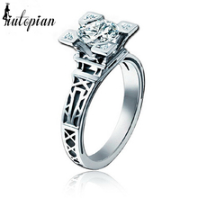 Iutopian Unique Paris Eiffel Tower Rings For Women Lover With Top Quality CZ Valentine's Day Gift #RG96727