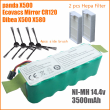 7pcs NI-MH 14.4V 3500mAh panda X500 Battery High quality Battery for Ecovacs Mirror CR120 Vacuum cleaner Dibea X500 X580 battery