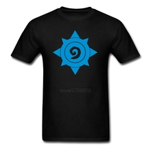 Screen Printing Round Neck Organ Cotton Hearthstone Logo Man t-shirt man T Shirt Cheap Sale(China)