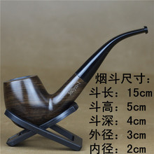 Imported Ebony Pipes Filters,pipe Tobacco Special Wood Wooden Smoking Pipes Tobacco Pipe Types(China)