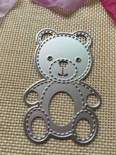 Lovely Bear metal die cutting dies scrapbooking embossing folder suit for sizzix fustella big shot cutting machine