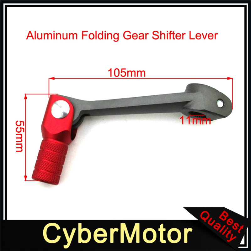 STONEDER Aluminum Folding Short Gear Shift Lever Shifter For Chinese Made 50cc 70cc 90cc 110cc 125cc 140cc 150cc 160cc Pit Dirt Bike