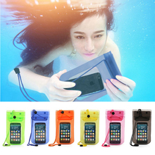 Mobile Phone Waterproof Bag Case Cover Underwater for iPhone4 4S 5 5S Water proof Mobile Phone Accessories & Parts Free Shipping(China)
