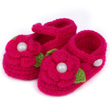 Lovely Infant Toddler Princess First Walkers Newborn Baby Girls Kid Prewalker Soft Soled Shoe Flower Knitting Shoes Footwear