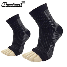 Queshark Yoga Ankle Support Fitness Sport Sprain Protector Socks Compression Arch Ankle Socks Heel Achilles Brace Wrap Straps