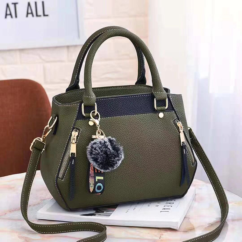 women hairball ornaments totes solid sequined handbag hotsale party purse ladies messenger crossbody shoulder bags 24