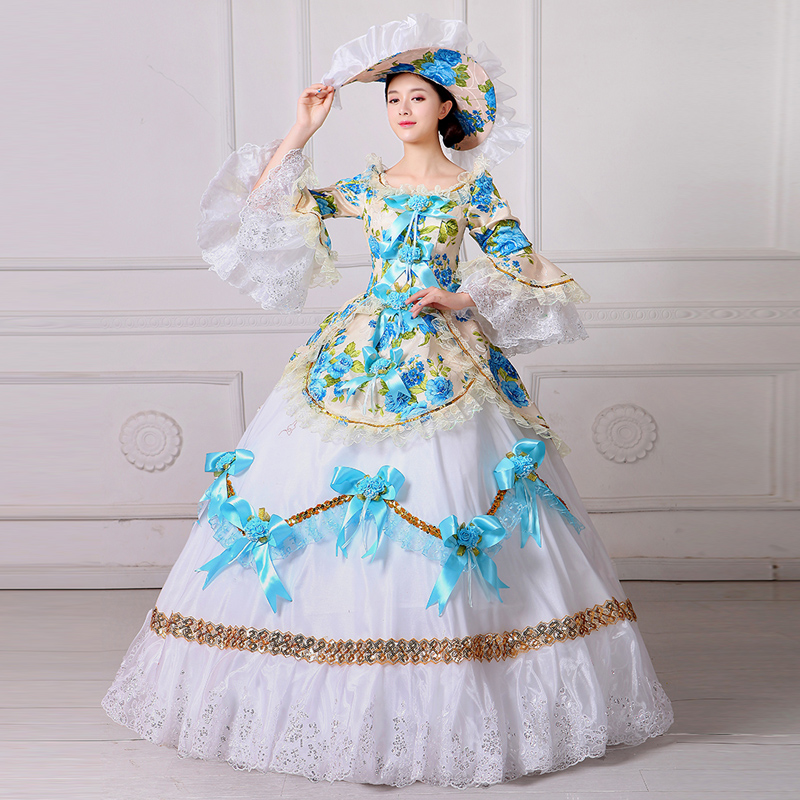 Classical White Dress Vintage Payty Gown Theater Ball Gown Elegance Pricess Dress Theater Evening (3)