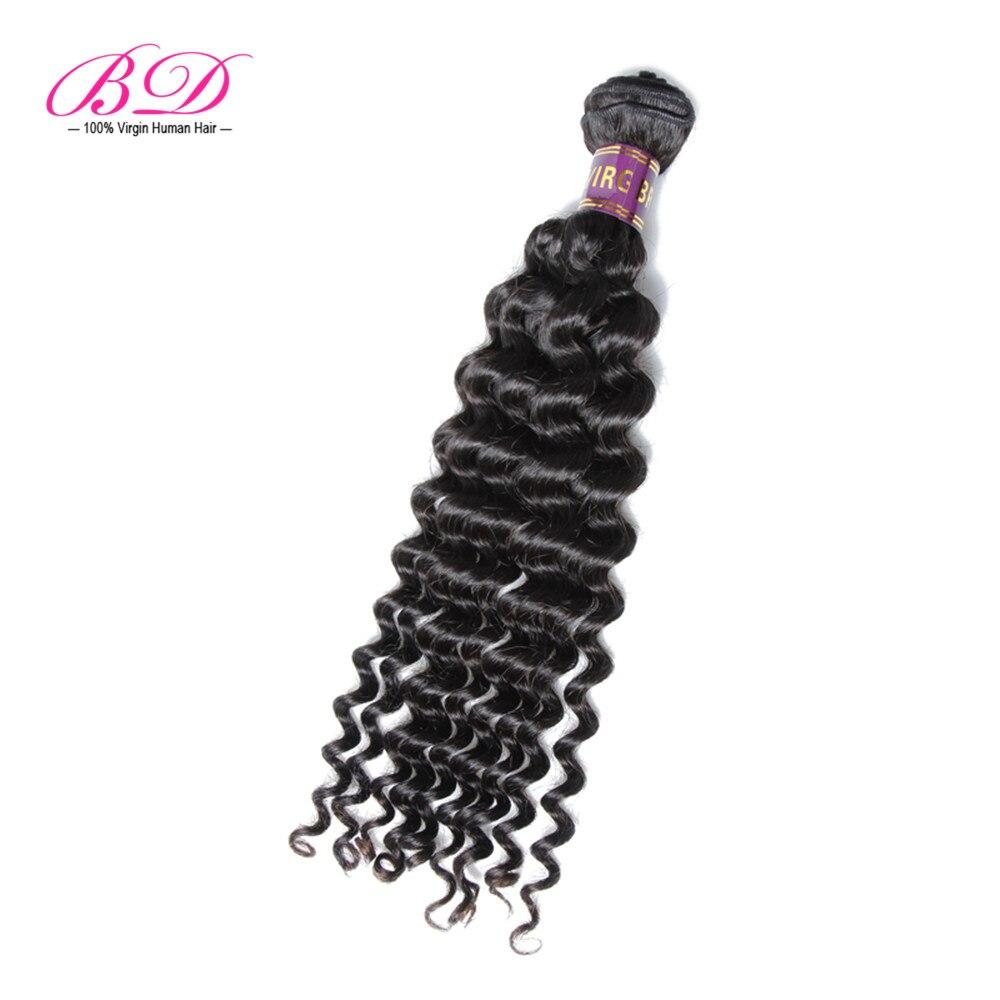 8A Unprocessed Brazilian Virgin Hair Deep Wave Human Hair Weft 1 Bundles 100g BD Hair 100% Real Human Hair Extensions<br><br>Aliexpress