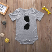 Cotton Infant Baby Boy Girls Clothing Jumpsuits Glasses Print Bodysuit One piece Baby Boys Girl Clothes Set