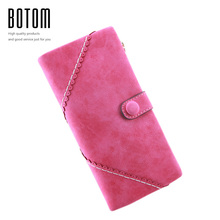 Women Coin Purses 2016 Korean Fashion Long Vintage Leather Zipper Women Purse Female Wallets Big Change Purse Casual Clutch Bag(China)