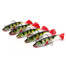 Long Tail Soft Lead Fish Fishing Lures 0.011KGS 85mm Luminous Sea Fishing Tackle Soft Bait Bass Hook