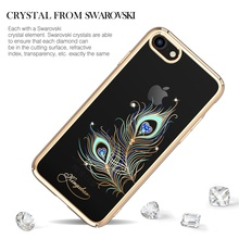 KINGXBAR for iPhone 7 Case Coque Crystals from Swarovski Plating PC Hard Diamond Rhinestone Case for iPhone 7 Cover