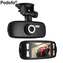"Podofo Dash Cam Original Car Video Recorder G1w Car DVR camera with Novatek 96650 + Wdr Technology + 2.7"" LCD Car Camera Gs108(China)"
