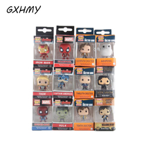 GXHMY Funko Pop Marvel Super Hero Keychain Figure Deadpool Captain America The Walking Dead Game of Thrones Hulk Spiderman