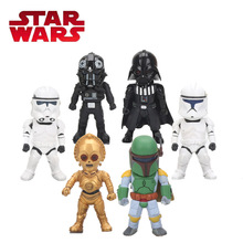 9cm Star Wars Toy Light Action Function Darth Vader PVC Action Figure Clone Trooper Storm Trooper Boba Figures Collection Model(China)