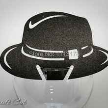 7e523341d5a Al Capone Hat Place Card Chicago Wedding Escort Name Decor Gangster Mafia  Party Wine Glass Decoration