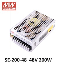 ac dc power source 48V 4.4A 200W Meanwell Switch Power Supply SE-200-48 Industrial Economical medium to high power model 48V