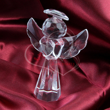 30PCS/LOT Wedding Carved Crystal Glass Angel Figurines Bomboniere Favors Souvenirs